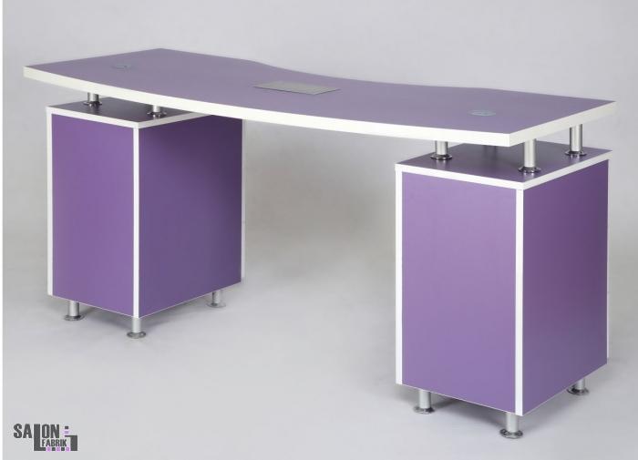 nageltisch vagant lila mit absaugung salonfabrik. Black Bedroom Furniture Sets. Home Design Ideas
