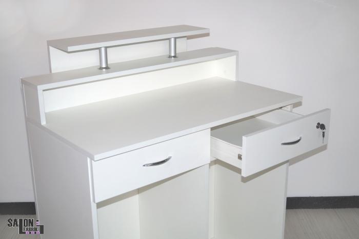 empfangstheke diamond weiss mit strasssteinen neu salonfabrik. Black Bedroom Furniture Sets. Home Design Ideas