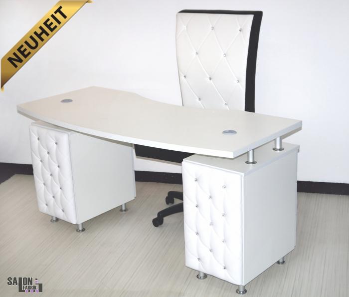 nageltisch vagant diamond weiss mit absaugung salonfabrik. Black Bedroom Furniture Sets. Home Design Ideas