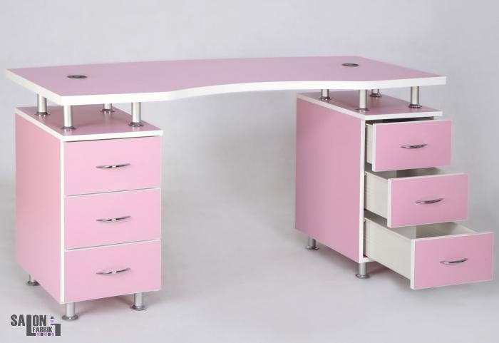 nageltisch vagant rosa mit absaugung salonfabrik. Black Bedroom Furniture Sets. Home Design Ideas